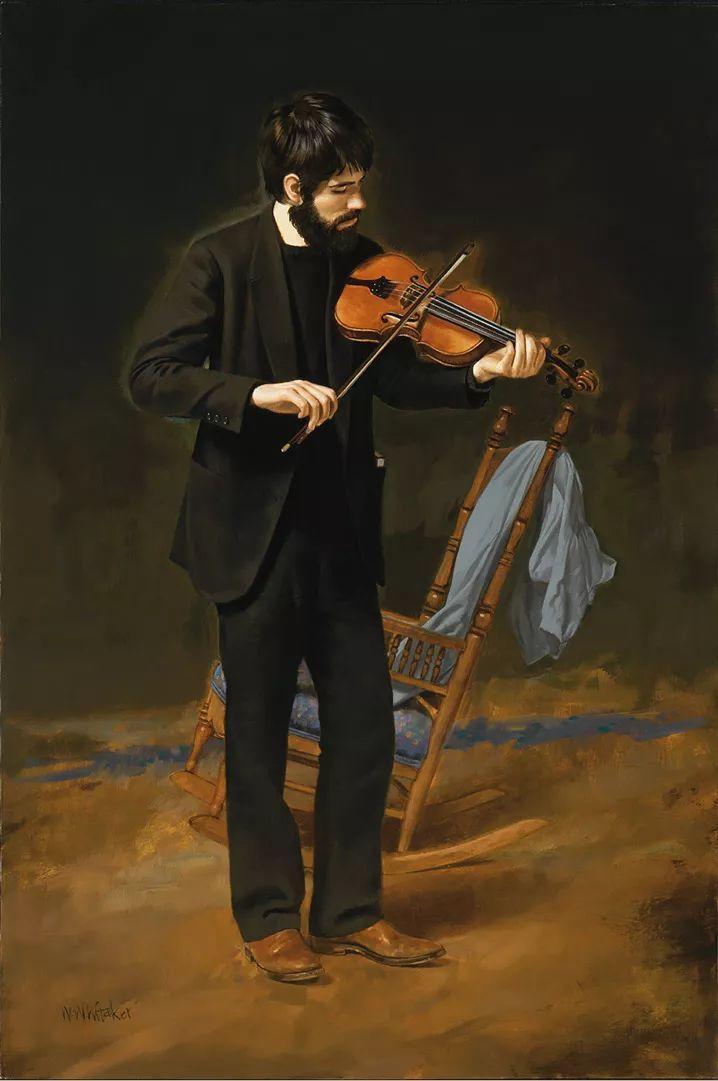 人物油画 美国现代著名画家William Whitaker插图6