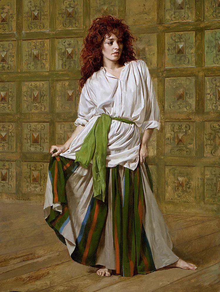 人物油画 美国现代著名画家William Whitaker插图7