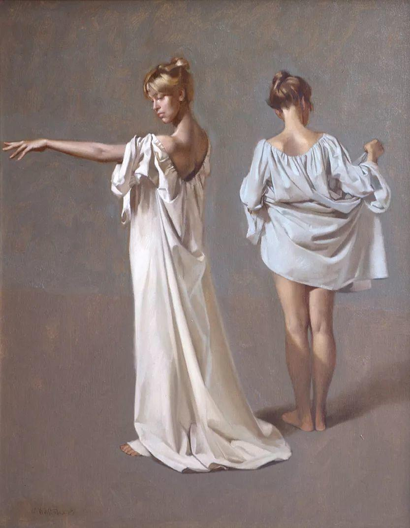 人物油画 美国现代著名画家William Whitaker插图8