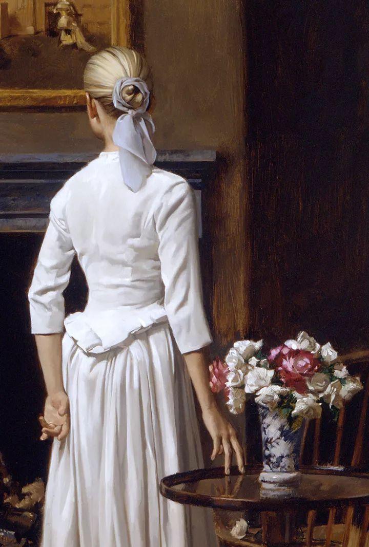人物油画 美国现代著名画家William Whitaker插图9