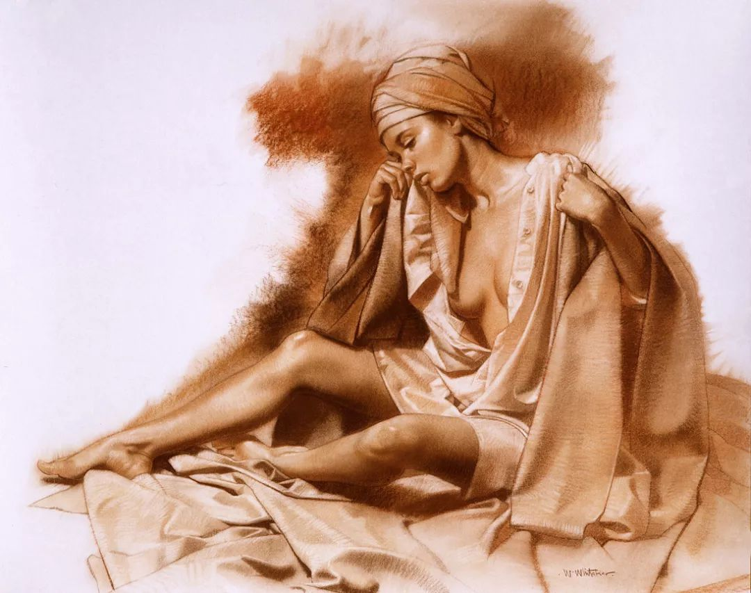 人物油画 美国现代著名画家William Whitaker插图10
