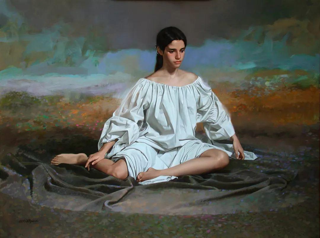 人物油画 美国现代著名画家William Whitaker插图11