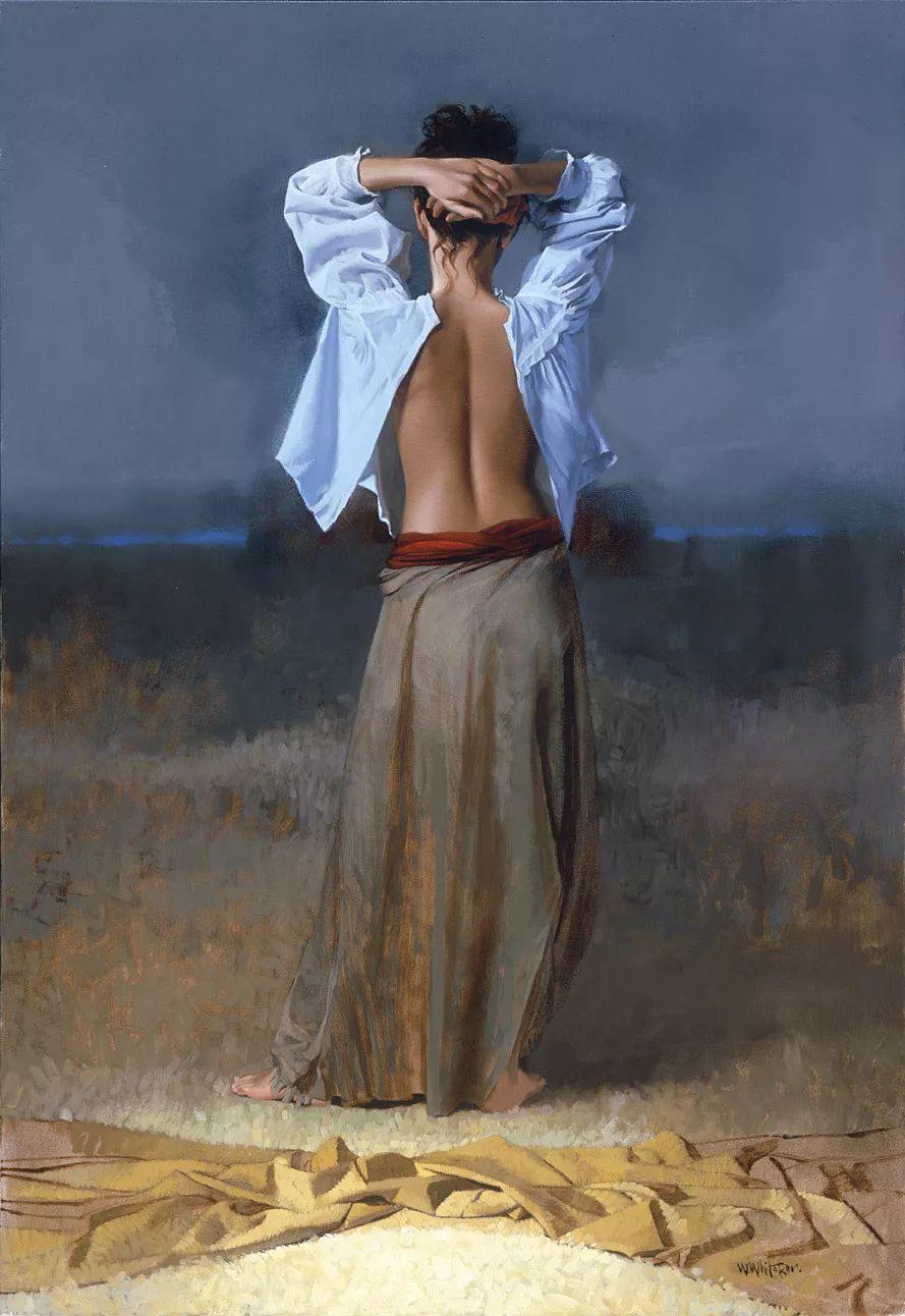 人物油画 美国现代著名画家William Whitaker插图12