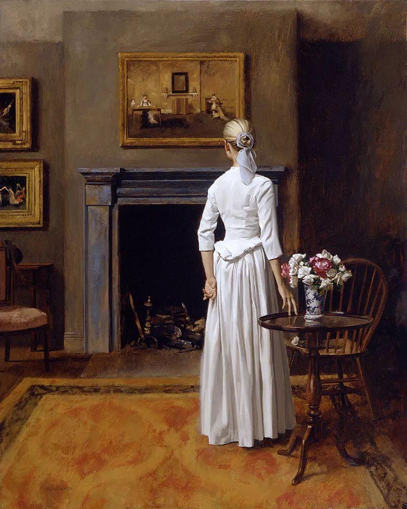 人物油画 美国现代著名画家William Whitaker插图15