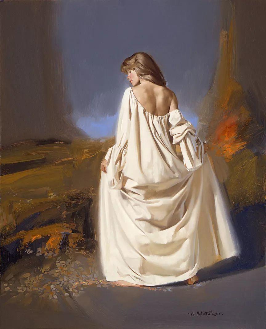 人物油画 美国现代著名画家William Whitaker插图16