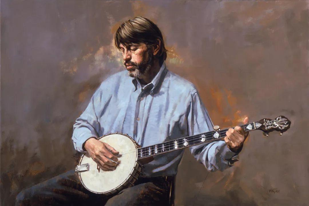 人物油画 美国现代著名画家William Whitaker插图17