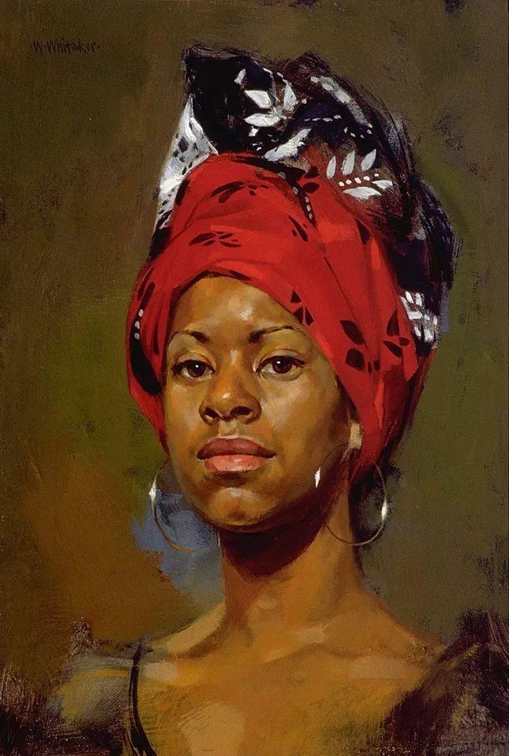 人物油画 美国现代著名画家William Whitaker插图18