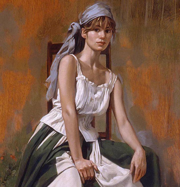人物油画 美国现代著名画家William Whitaker插图19