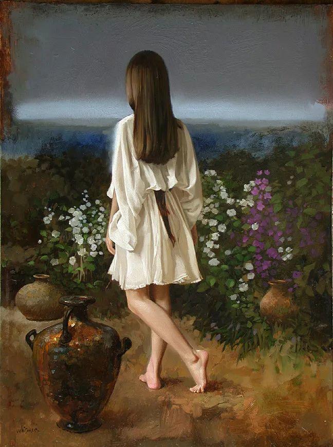 人物油画 美国现代著名画家William Whitaker插图21
