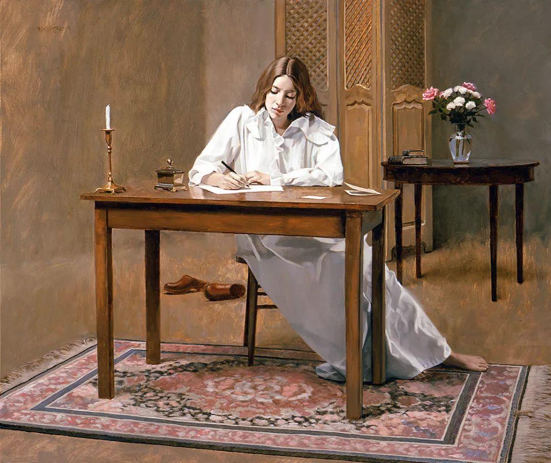 人物油画 美国现代著名画家William Whitaker插图22