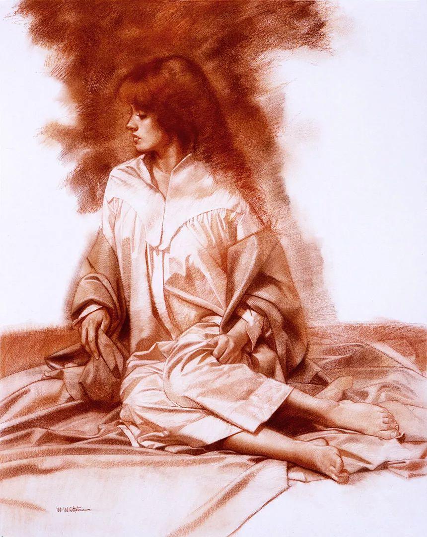 人物油画 美国现代著名画家William Whitaker插图23