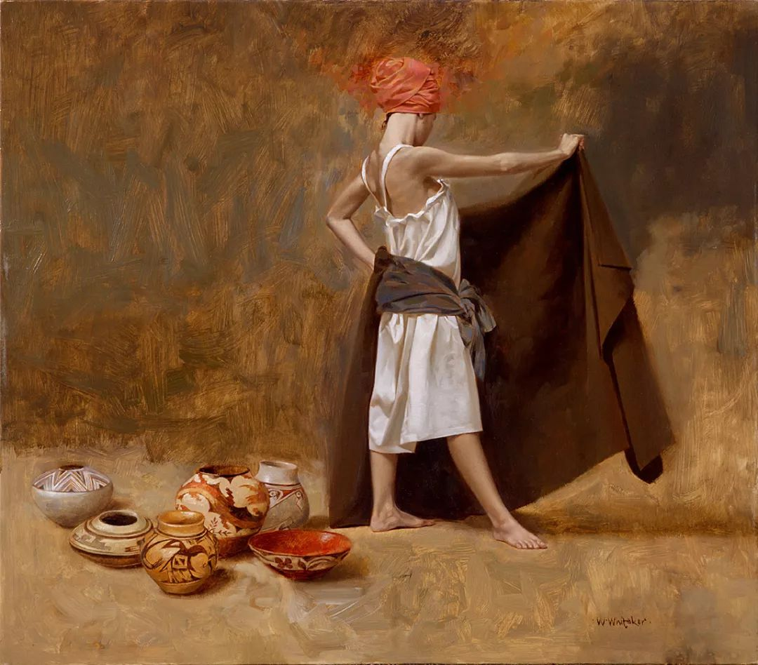 人物油画 美国现代著名画家William Whitaker插图25
