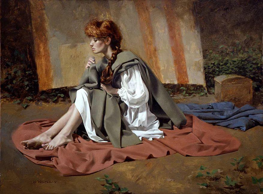 人物油画 美国现代著名画家William Whitaker插图26