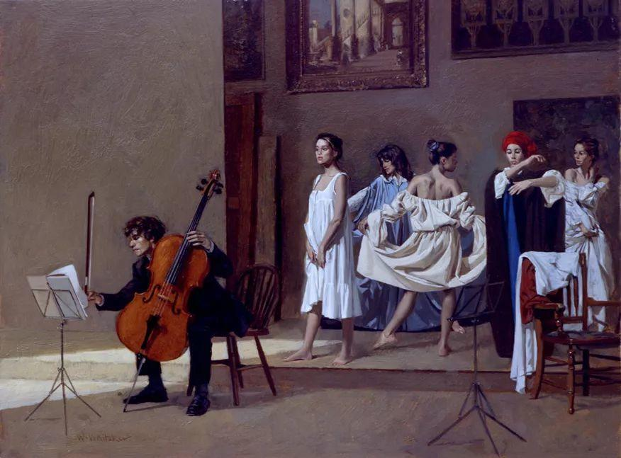 人物油画 美国现代著名画家William Whitaker插图29