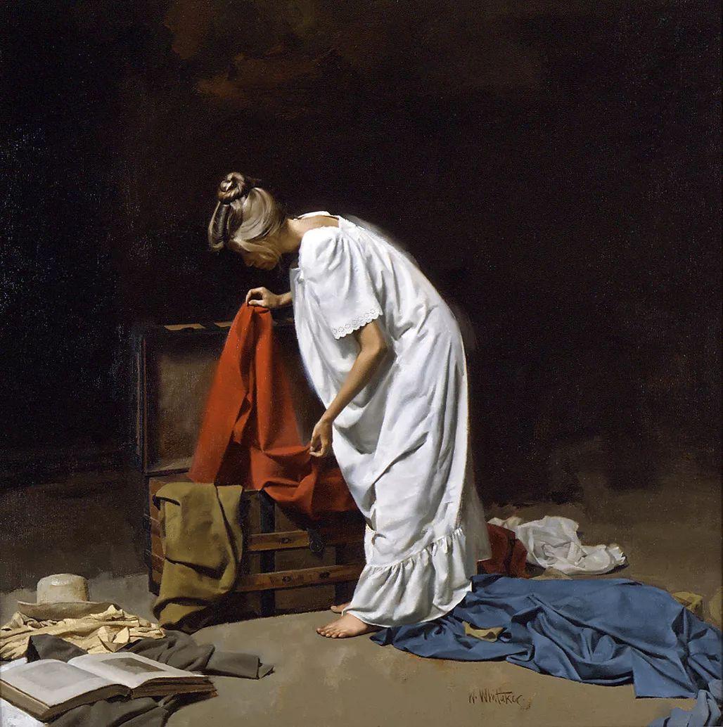 人物油画 美国现代著名画家William Whitaker插图34
