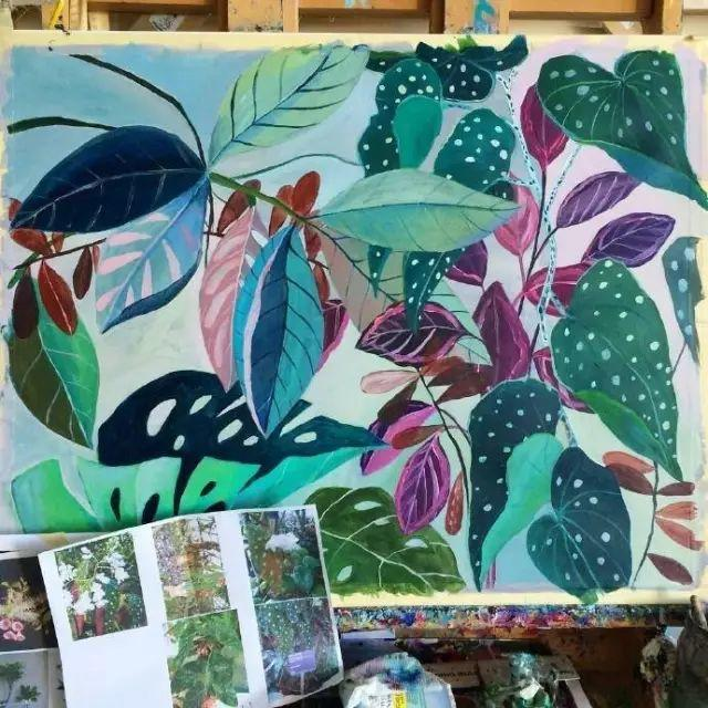 她的植物画里,总能感受到栩栩如生插图4