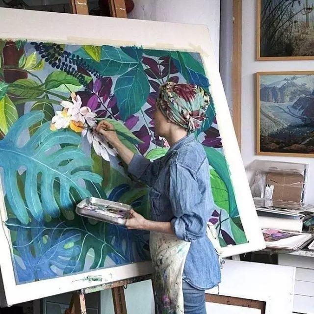她的植物画里,总能感受到栩栩如生插图5
