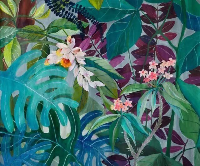 她的植物画里,总能感受到栩栩如生插图10