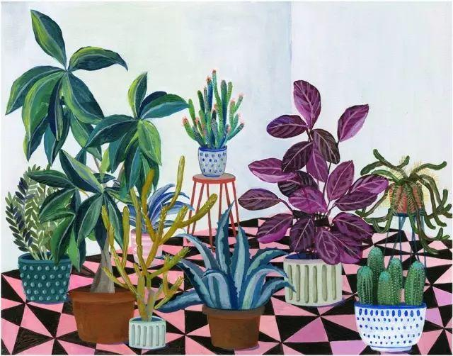 她的植物画里,总能感受到栩栩如生插图11
