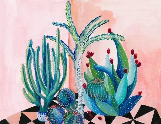 她的植物画里,总能感受到栩栩如生插图13