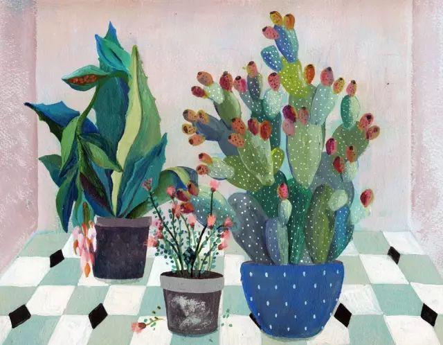 她的植物画里,总能感受到栩栩如生插图14
