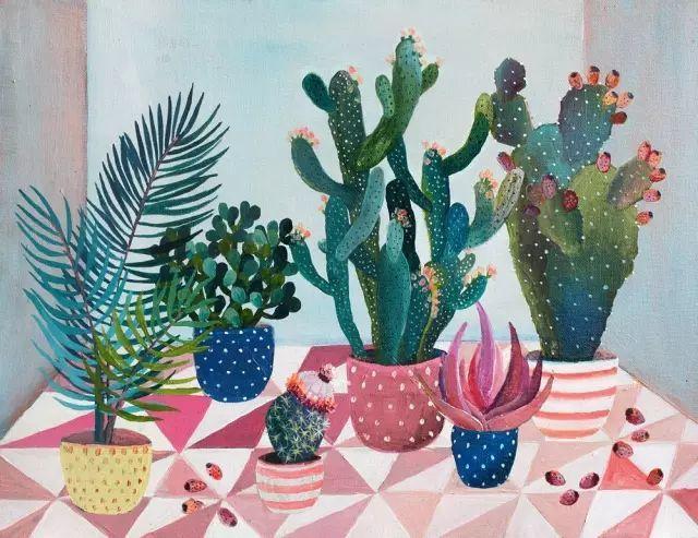 她的植物画里,总能感受到栩栩如生插图17