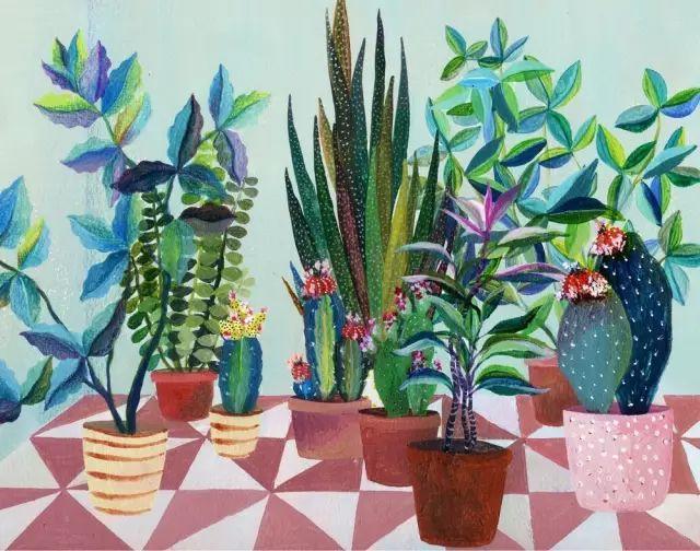 她的植物画里,总能感受到栩栩如生插图19
