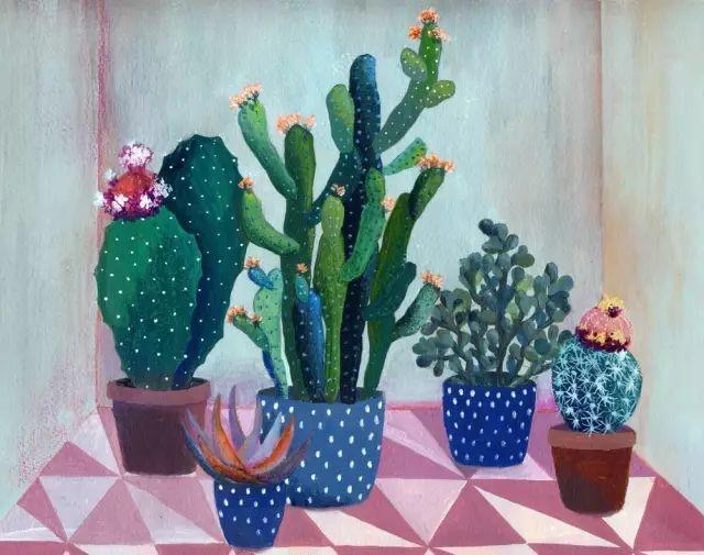 她的植物画里,总能感受到栩栩如生插图20