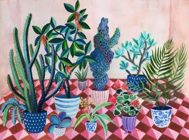 她的植物画里,总能感受到栩栩如生插图26