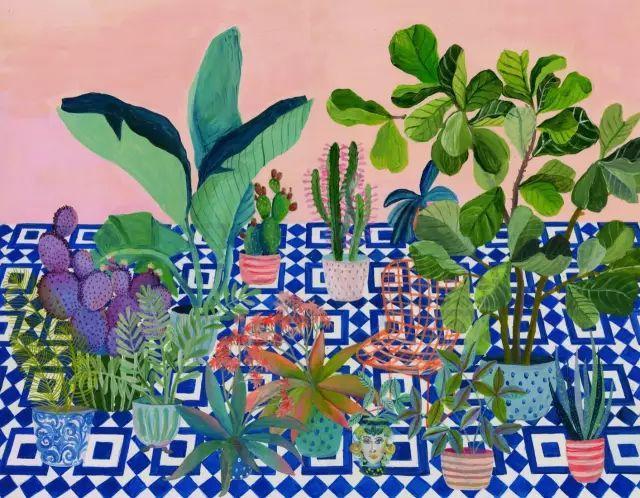 她的植物画里,总能感受到栩栩如生插图27