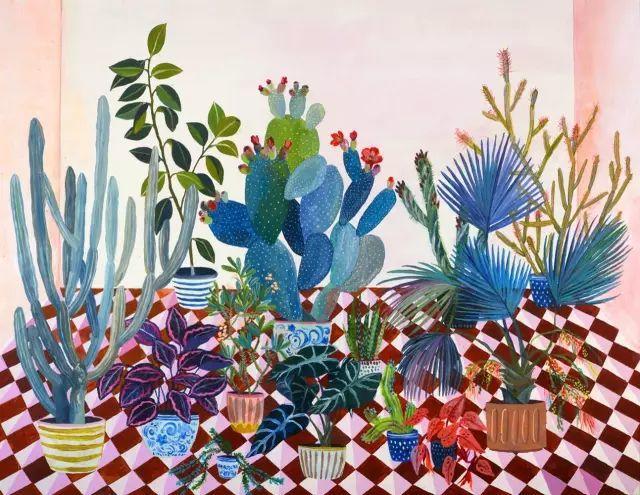 她的植物画里,总能感受到栩栩如生插图28