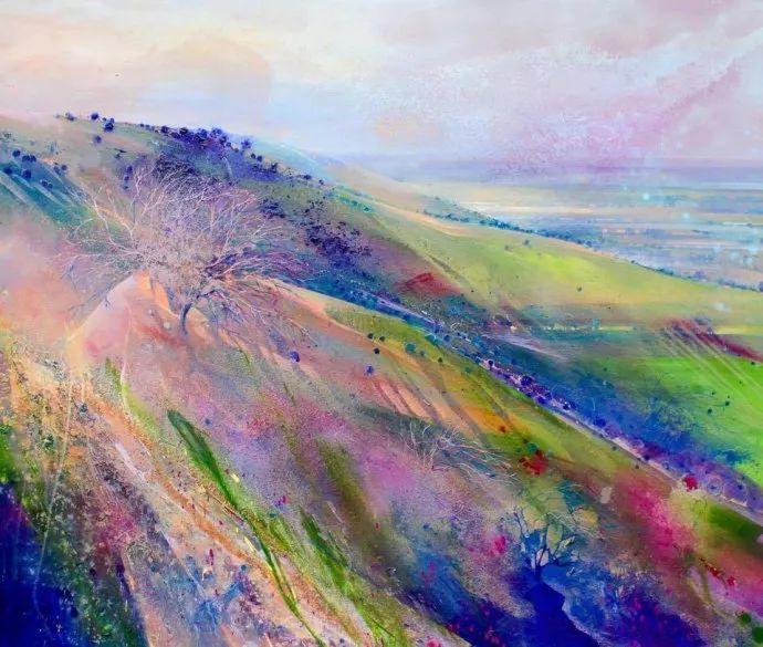 梦幻般的丙烯风景画——英国Lorna Holdcroft插图1