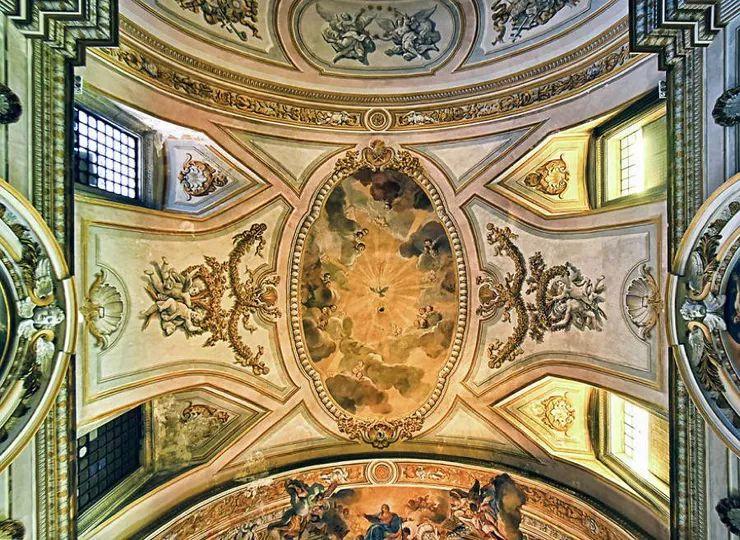 罗马教堂天顶绘画插图5