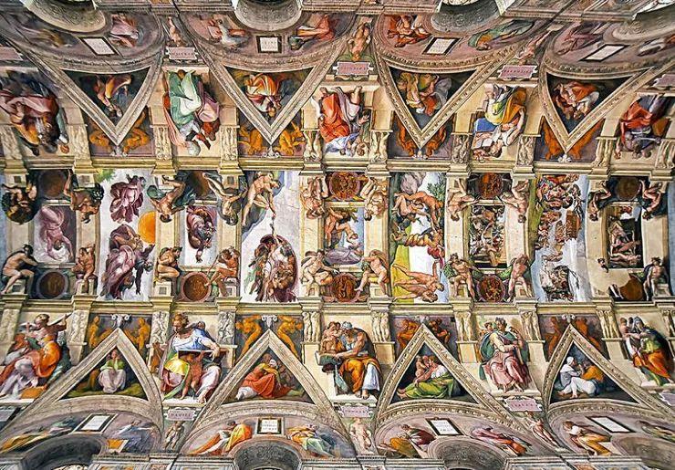 罗马教堂天顶绘画插图9