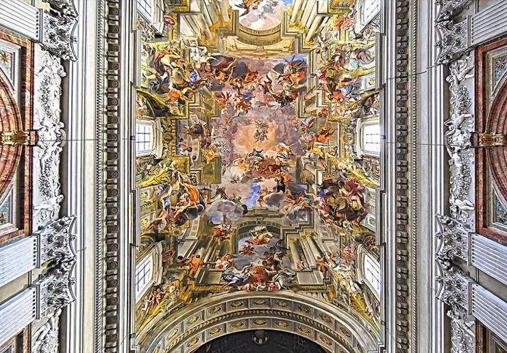罗马教堂天顶绘画插图11