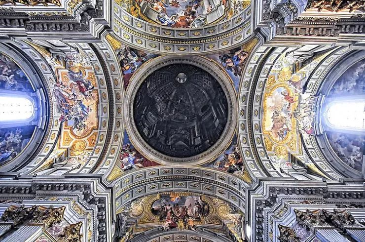 罗马教堂天顶绘画插图13
