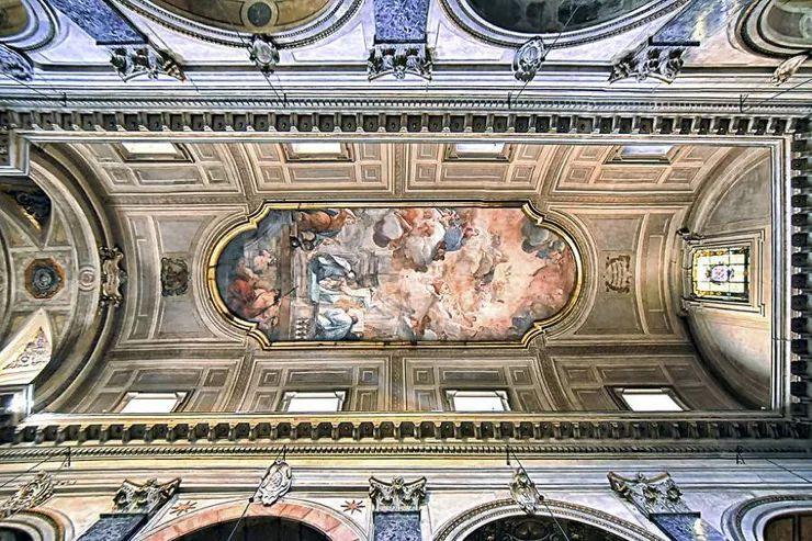 罗马教堂天顶绘画插图15