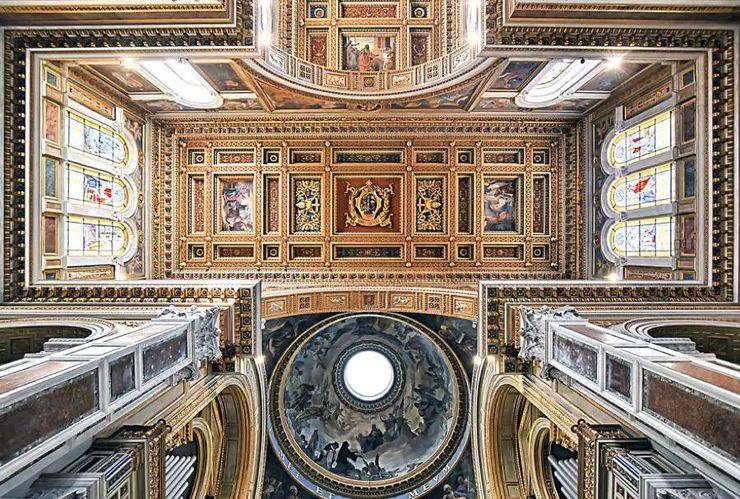 罗马教堂天顶绘画插图17