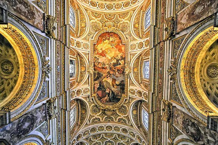 罗马教堂天顶绘画插图19