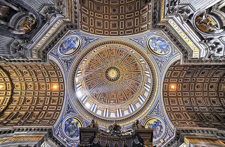 罗马教堂天顶绘画插图21