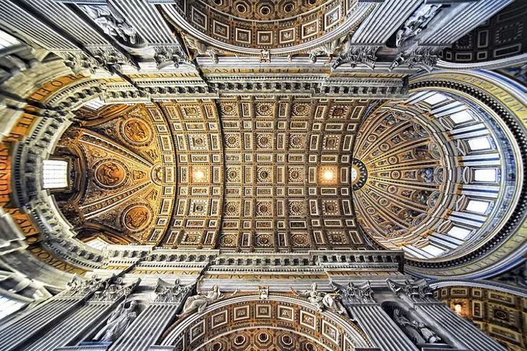 罗马教堂天顶绘画插图23