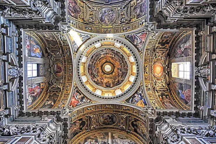 罗马教堂天顶绘画插图25