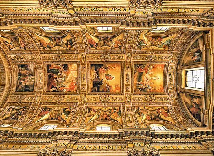 罗马教堂天顶绘画插图27