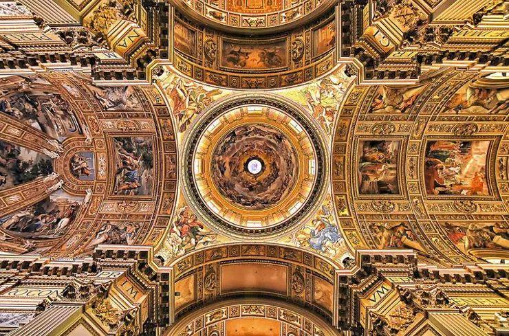 罗马教堂天顶绘画插图29
