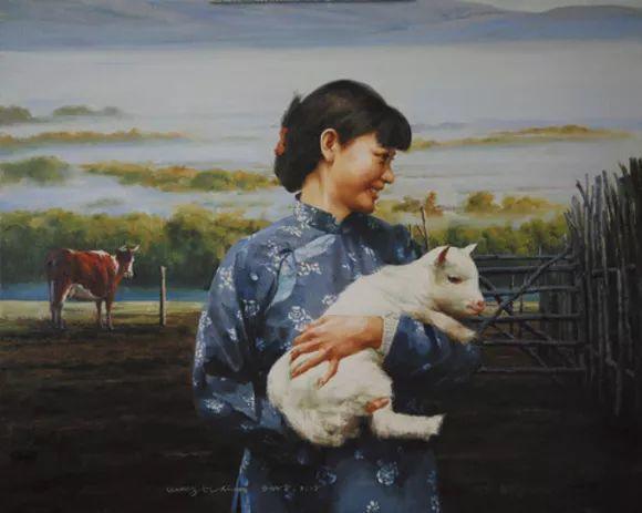 农村题材油画人物插图95