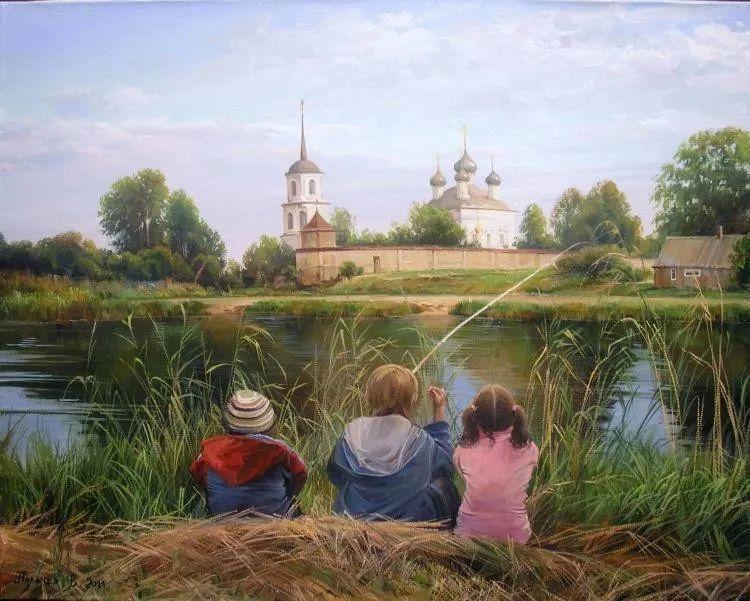 俄罗斯田园油画欣赏插图19