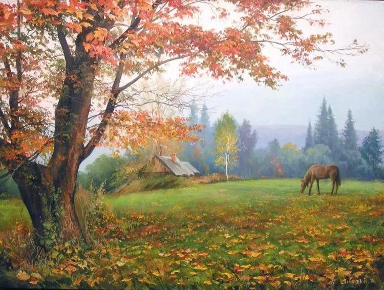 俄罗斯田园油画欣赏插图21