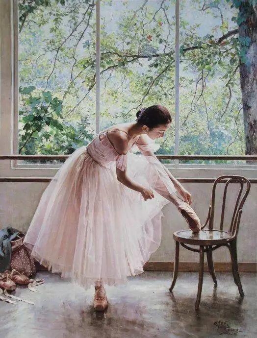 中国也有位执迷于画芭蕾舞女的画家插图39