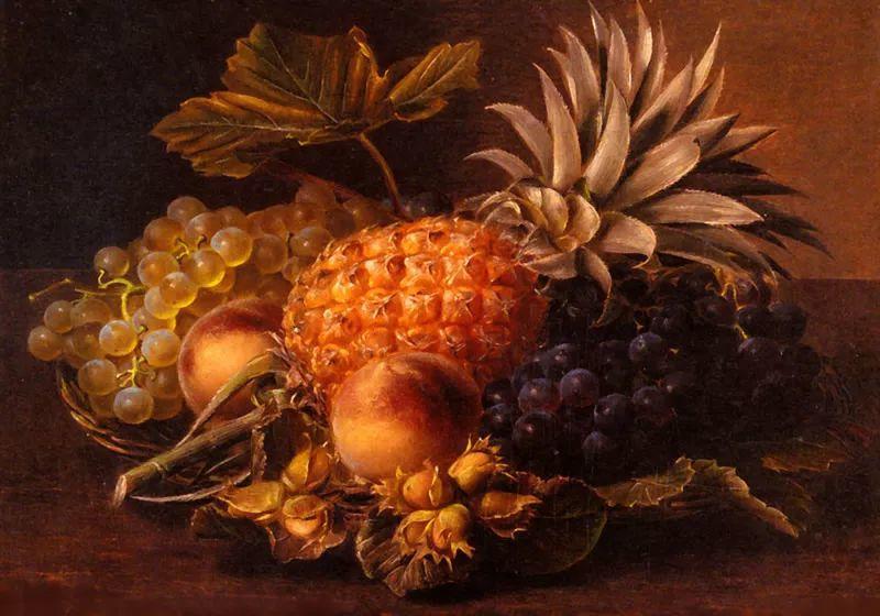 中外关于葡萄题材的绘画插图1