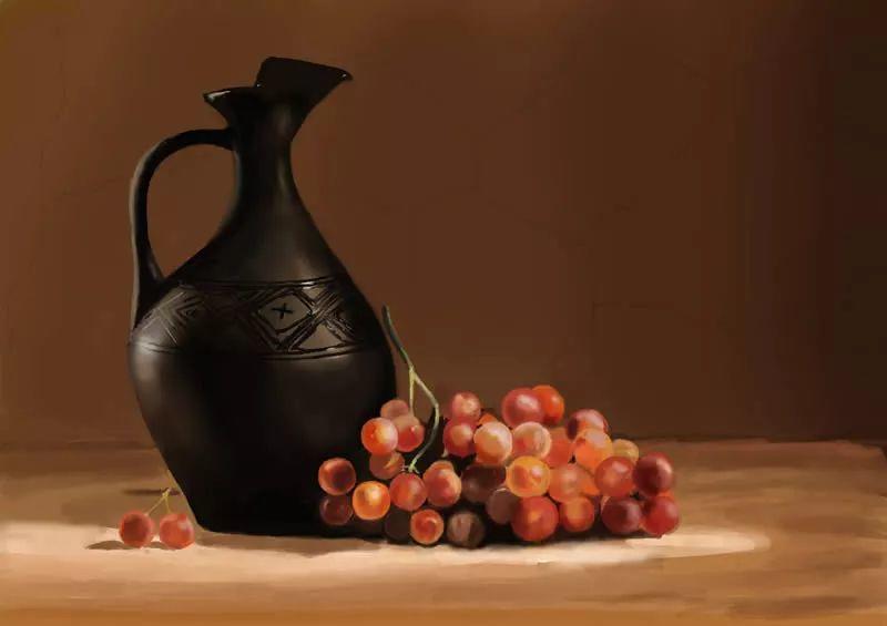 中外关于葡萄题材的绘画插图4